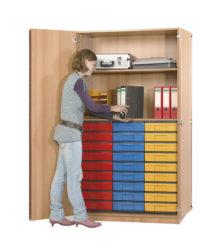 poliță, 27 InBox M color, cu ușă
