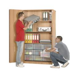 poliță, 9 InBox L transparent, cu ușă