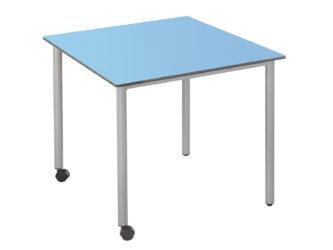 masă pătrat 73x73 cm cu rotilă