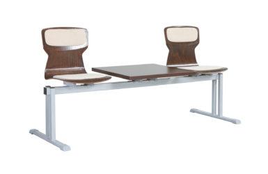 Rând scaun Soliwood 3 pers.+masă