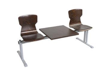 Rând scaun Soliwood 2 pers.+masă