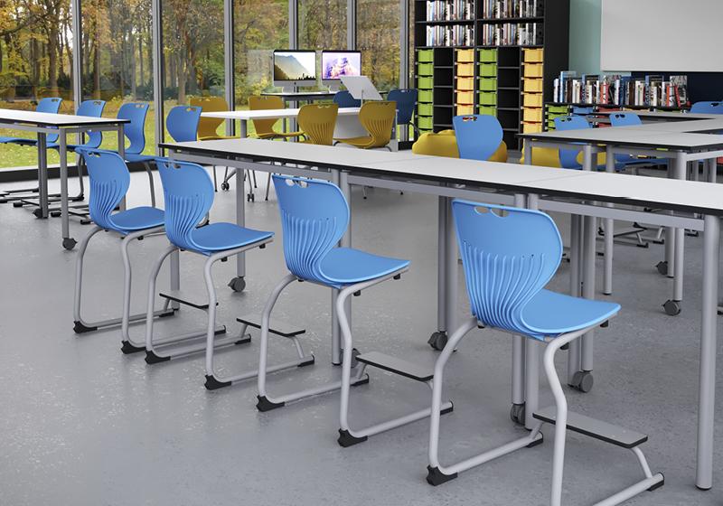 Mobilier școlar adaptat la metoda de predare-învățare în 8 ore